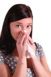 Frau erhielt Allergie lizenzfreies stockbild