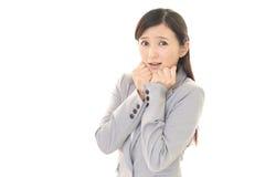 Frau erschrocken Lizenzfreie Stockbilder