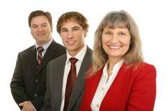Frau führte Geschäfts-Team Stockfotografie