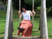 Frau freut sich Stockfotos