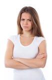 Frau geärgert Lizenzfreie Stockfotografie