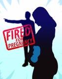 Frau gefeuert für Schwangerschafts-Illustration Lizenzfreie Stockfotos