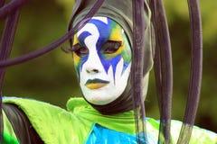 Frau gemaltes Gesicht lizenzfreie stockfotos