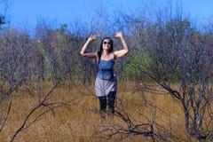 Frau genießen im Freien Lizenzfreie Stockfotografie