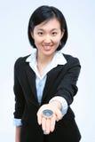 Frau in Geschäft IV lizenzfreies stockbild