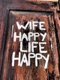 Frau glücklich, Leben glücklich Lizenzfreie Stockfotos