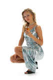 Frau im Abendkleid Lizenzfreies Stockfoto