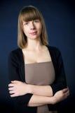 Frau im Anzug lizenzfreies stockfoto