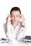 Frau im Büro Stockfoto