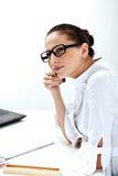 Frau im Büro Stockbild