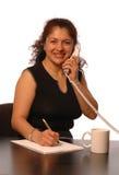 Frau im Büro Lizenzfreies Stockbild