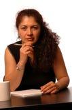 Frau im Büro Lizenzfreie Stockfotografie