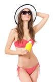 Frau im Badeanzug Lizenzfreie Stockfotos