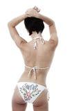 Frau im Bikini stockfoto