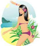 Frau im Bikini Stockbild