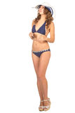 Frau im Bikini, Ferienkonzept Lizenzfreie Stockfotografie
