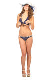 Frau im Bikini, Ferienkonzept Lizenzfreie Stockfotos