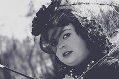 Frau im Blick 20s Lizenzfreie Stockfotos