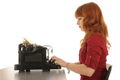 Frau im Büro Stockfotografie