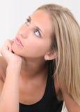 Frau im Druck Lizenzfreies Stockfoto
