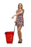 Frau im Einkaufskonzept Lizenzfreies Stockfoto
