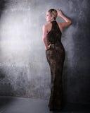 Frau im formalen Kleid Lizenzfreies Stockbild