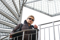 Frau im Freien Stockfotografie