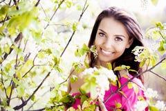 Frau im Freien Stockbilder