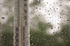 Frau im Garten Blinder Regen plus Lizenzfreie Stockbilder