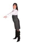 Frau im Gesamte sideview lizenzfreie stockfotografie