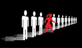 Frau im Geschäft lizenzfreie abbildung
