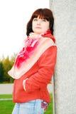 Frau im Herbstpark. stockbild