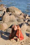 Frau im indischen Kleid Lizenzfreies Stockbild