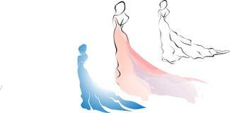 Frau im Kleid Lizenzfreies Stockfoto