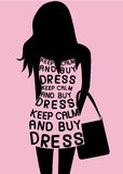 Frau im Kleid von den Zitaten Lizenzfreie Stockbilder