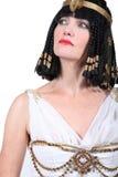 Frau im Kleopatra-Kostüm lizenzfreies stockfoto