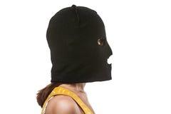 Frau im Kopfschutz Stockbilder