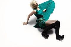 Frau im langen Kleid Lizenzfreies Stockbild