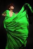 Frau im langen Kleid Stockbilder