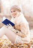 Frau im Park Stockbilder
