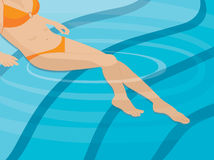 Frau im Pool stock abbildung