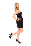 Frau im reizvollen Kleid Lizenzfreie Stockfotos