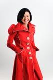 Frau im Retro- Kleid Stockfoto