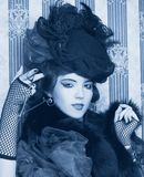 Frau im Retrostil. Stockbilder