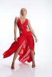 Frau im Rot Stockbilder