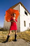 Frau im Rot Lizenzfreie Stockfotografie