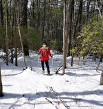 Frau im Schnee Lizenzfreies Stockfoto