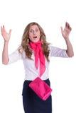 Frau im Schock Lizenzfreie Stockfotos