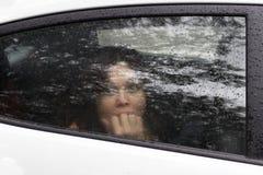 Frau im Schrecken Stockfotografie