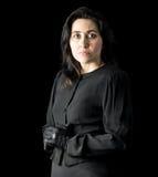 Frau im Schwarzen Lizenzfreie Stockbilder